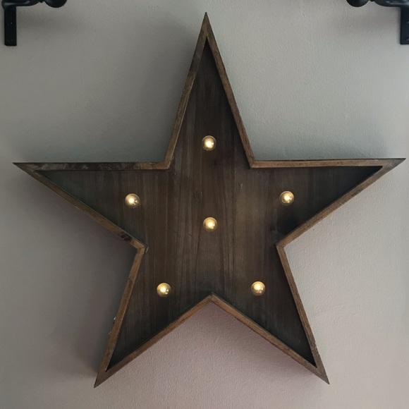 Target Wall Art Wood Lighted Star Wall Decor Poshmark